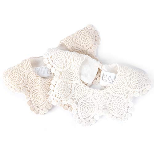 c3c379d13b0d1 2-Pack Baby Bibs LIVEBOX New Lace Fake Collar Baby Bandana Bib for Drooling  and