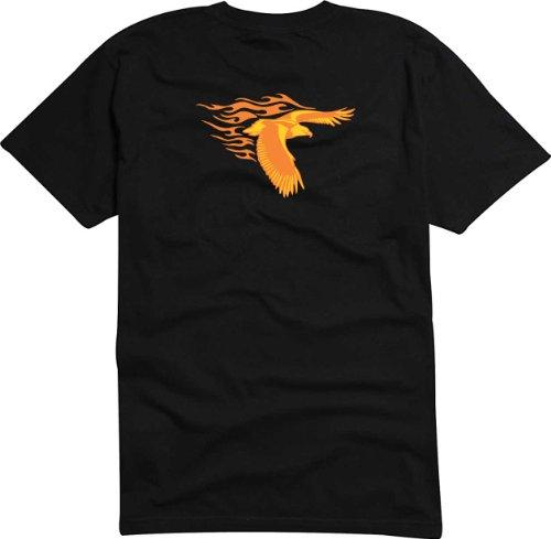 T-Shirt Herren Adler mit Schwanz Schwarz