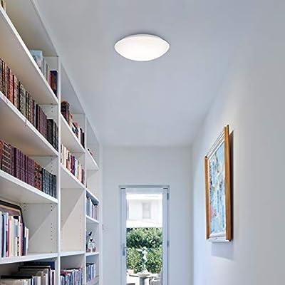 Briloner Leuchten – LED Deckenlampe mit Bewegungsmelder, Deckenleuchte mit Tageslichtsensor (optional einstellbar), 15W, 1500 Lumen, Ø29 cm von Briloner Leuchten