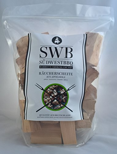 Für Holz-chips Elektro-raucher (SWB Wood Smoking Chunks/ Räucherscheite Apfel 1,5kg)