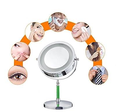 Dare Color Profi Kosmetikspiegel Schminkspiegel Tischspiegel mit LED Beleuchtung