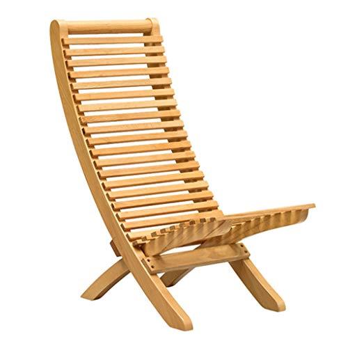 Wicker Deck (SjYsXm- Liegen Hölzerne faltende Recliner Stühle Deck Chair Wicker Chair Lazy Chair Sessel Sun Lounge Chair für Patio Yard Outdoor Garten und Pool (größe : L))