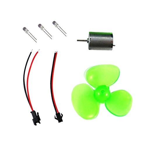 Baoblaze Mini Kit Luz LED Generador Viento Plástico