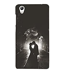 Vizagbeats Black & White Couple Back Case Cover for Oppo F1 Plus