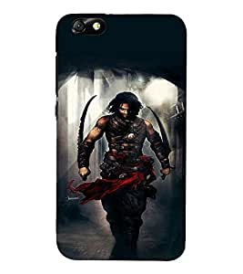 Takkloo warrior ( super hero, angry man, man holding weapon, muscular body) Printed Designer Back Case Cover for Huawei Honor 4X :: Huawei Glory Play 4X