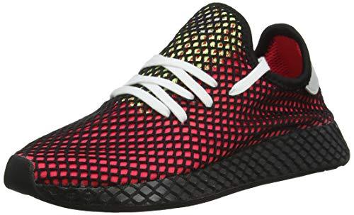 adidas Herren Deerupt Runner Gymnastikschuhe, Rot Shock Red/Real Lilac/Core Black, 42 2/3 EU