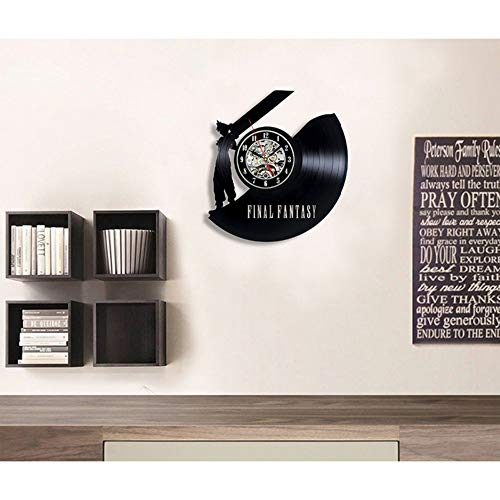 Final Fantasy Vintage Wanduhr Vinyl Fan Kinderzimmer Geschenk Dekoration Ideen Home Art ()
