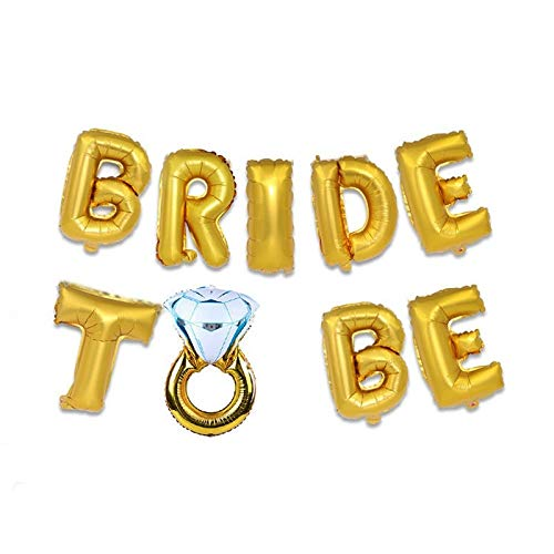KHKJ Rose Gold Team Bride to Be Balloons Just Married Banner Wedding Decoration Bridal Shower Photobooth Bachelorette Party Supplies