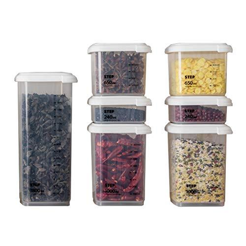 LIYANCMX Küche Versiegelt Crisper Kunststoff Kühlschrank Gekühlt Gefriergut Aufbewahrungsbox Korn Lagerung Container-Set Vorratsdosen (Bulk Lebensmittel-lagerung-container)