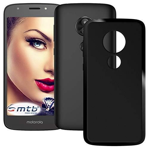 mtb more energy® Hülle Grip für Motorola Moto E5 | Moto E 5. Gen. (5.7'') | Schwarz (matt) | flexibel | TPU Case Schutz Hülle Tasche