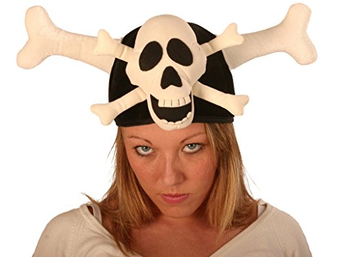 Hat Skull & Cross Bones - Pirat Neuheit hat bei Fancy Dress Party