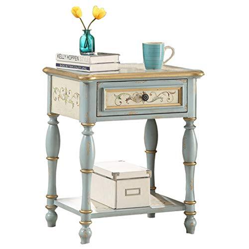 Tables Table Basse Côté Canapé Peint Armoire Latérale Rétro En Bois Massif Table D'appoint Canapé Amovible Coin Salon Minimaliste Moderne Tables de dos de canapé