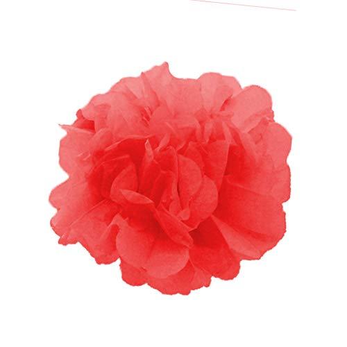 ToDIDAF 20 Stück DIY Seidenpapier Pompoms Blumen Hängende Papierblumen für Hochzeitsdekoration Party Geburtstag Weihnachten Zimmer Abschlussfeier Dekor (10 Zoll, Rot)