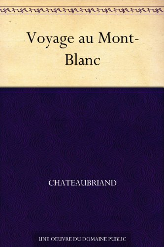 Couverture du livre Voyage au Mont-Blanc
