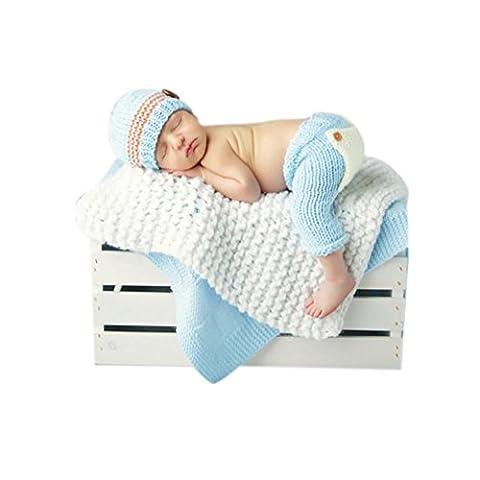 hibote Baby-Kostüm Schuhe Fotografie Prop Süss Crochet häkeln Strickmütze Hut Cap (Baby-0-6 Monate Kostüme)