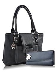 Butterflies Combo Handbag (Black) (BNS CB024)