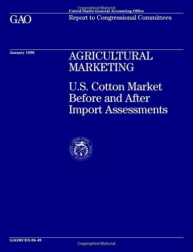 RCED-96-49 Agricultural Marketing: U.S. Cotton Market Before and After Import Assessments