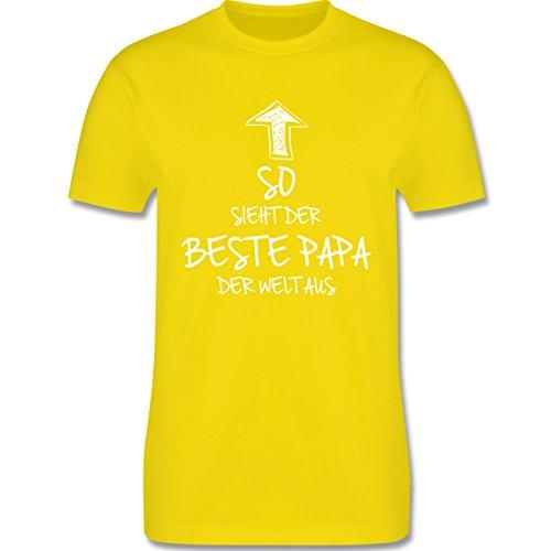Geburtstag - So sieht der beste Papa der Welt aus - Herren Premium T-Shirt Lemon Gelb
