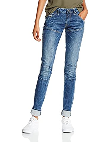 G-STAR RAW Damen Jeanshose 5620 Mid Skinny Wmn, Blau (Medium Aged Antic 6348), W26/L30