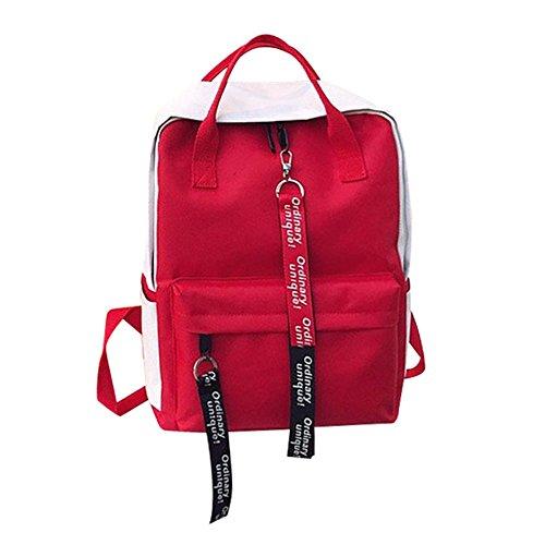 Herren Damen Unisex Student Schulrucksack Rucksack Backpack Schultasche handbag, Freizeit Student Falttasche Paar Reisetasche Umhängetasche