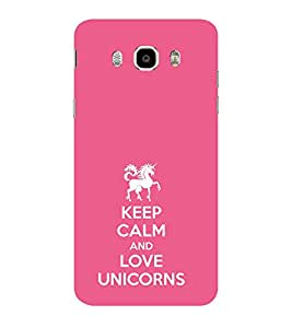 ifasho Nice Quote On Keep Calm Back Case Cover for Samsung Galaxy On8