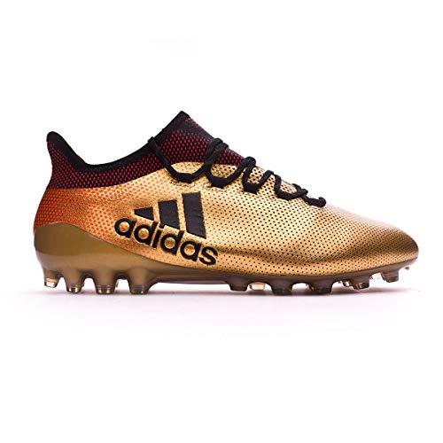 adidas Herren X 17.1 AG Fußballschuhe, Gold (Tagome/Cblack/Solred), 44 2/3 EU