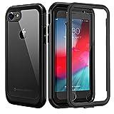 seacosmo Coque iPhone 7, Coque iPhone 8, Antichoc Housse [avec Protège-écran] Full Body Protection...