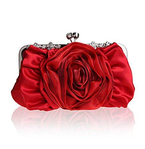 WZW Donna Poliestere / Chiffon Formale / Casual / Serata/evento / Matrimonio / Ufficio e lavoro Borsa da seraViola / Blu / Rosso / Grigio / . black red