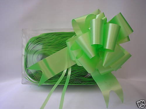 5 x 50 mm, colore: verde Lime con Florist Craft Bows. Plus, 10 m, colore: verde Lime/funebri Ribbon. per confezioni regalo, motivo floreale, bouquet, regali, decorazione/matrimoni