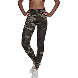 Urban Classics Ladies Camo Tech Mesh Leggings, Mujer, Multicolor (woodcamo/blk 00459) 4XL