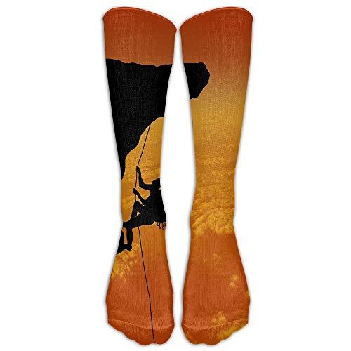 nnmaw Womens Rock Climbing Adventure Printed Sock Over Knee High Boots Girls Long Socks