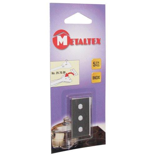 Metaltex 297014010 Cuchillas de Repuesto para vitrocerámica rascador Conjunto de 5
