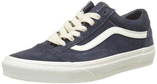 Vans Old Skool Suede, Baskets Mixte Adulte Bleu (Herringbone Lace/ Navy/marshmallow)