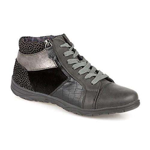 Jana en cuir à lacets Chaussures 308179 Gris