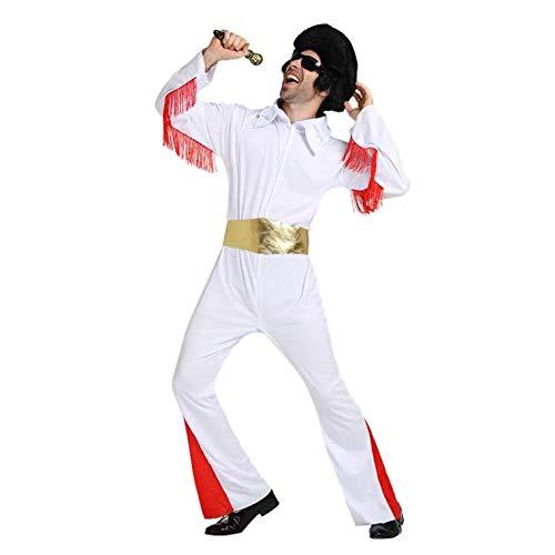 thematys Elvis Presley Kostüm-Set für Herren - perfekt für Cosplay, Karneval & Halloween - Einheitsgröße 160-180cm