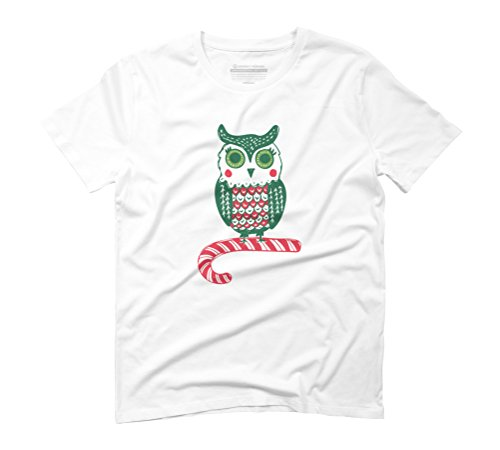 Festive Owl Men's Graphic T-Shirt - Design By Humans White