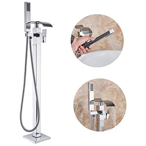 Wladimirowitsch Rosin im Badezimmer montiert Chrom Badewanne Armatur Wasserfall Auslauf handhled Dusche Spritze freistehend