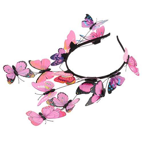 Baoblaze Damen Mädchen Schmetterling Haarreif Haarband Stirnband Haarschmuck Fotografie Requisiten, Farbewahl - ()
