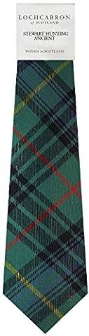Stewart Hunting Tartan (Ancient) Soft Pure Wool, Mens Tie