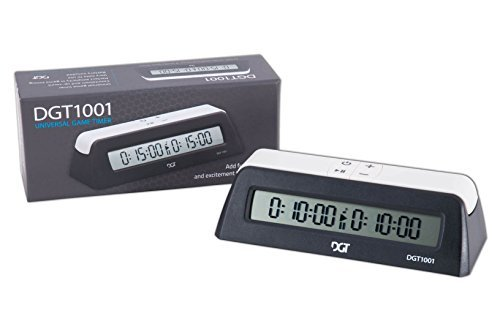 DGT 1001 Digital Chess Clock - Black by The House of Staunton