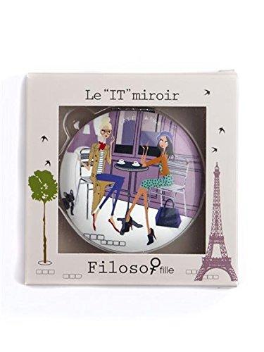 Filosofille-Specchio doppio Filo e sofie-Borsa, motivo: Parigi - 02 Specchio