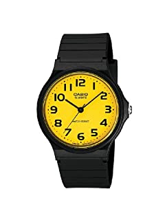 Casio Mens Watch MQ-24CC-9B2EF with Yellow Analogue Dial and Black Resin Strap (B004323R9M) | Amazon price tracker / tracking, Amazon price history charts, Amazon price watches, Amazon price drop alerts