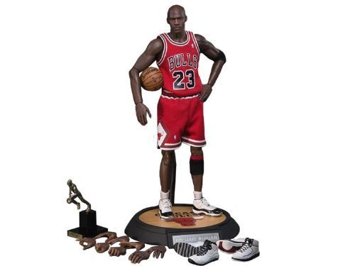 Michael Jordan Real Masterpiece Action Figurine #23 Road Version