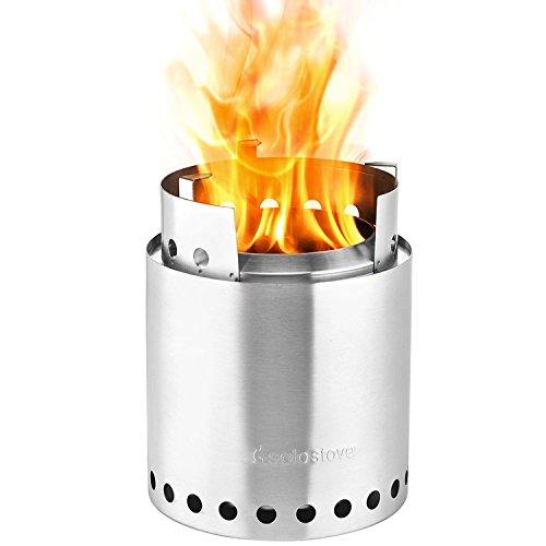 (Solo Stove Campfire - Der größte Solo Stove: Leichter Holzofen mit Rocket-Kochsystem für Backpacking, Camping, Überlebenstraining, Vorbereitung auf Notfälle. Verbrennt Zweige - KEINE Batterien oder Kanister mit Flüssigbrennstoff notwendig.)