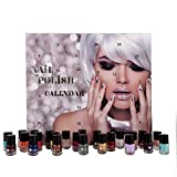 Bavaria-Home-Style-Collection Beauty Adventskalender 2018 | Nagellack 24 top Farben metallic effect, nude, pastell uvm, Nagellack-Sets mit 24 x 4 ml und Gäste-Handtuch