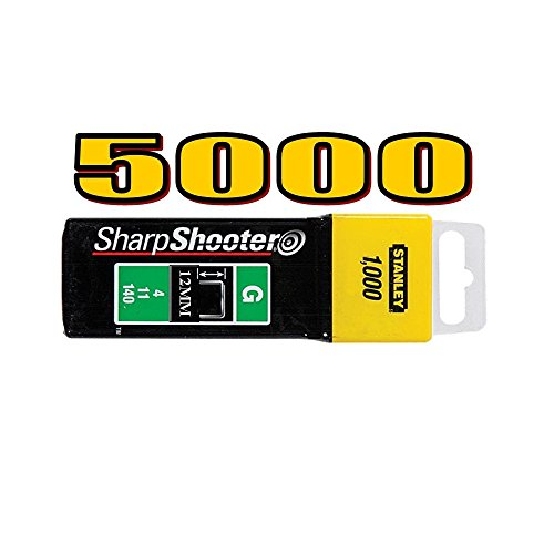 5000 agrafes ultra solide de Type G 12 mm, 10, 11, 140 Stanley 1–TRA708T Sharpshooter Type G