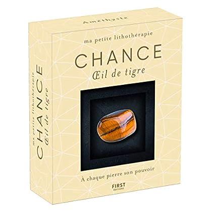 Ma petite lithothérapie - Chance - Oeil de tigre : une pierre + un livre