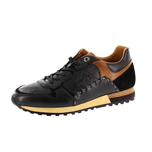 La Martina Herrenschuhe - Sneaker LFM192030 - Nero, Schuhgröße:EUR 43