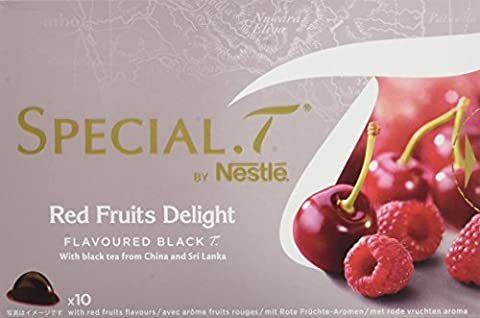 SPECIAL.T by Nestlé Thé noir parfumé aux fruits rouges Red Fruits Delight 10 capsules - Lot de 4