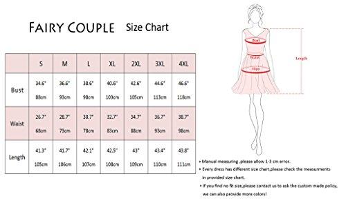 FAIRY COUPLE 50er Jahren Retro 3/4 Ärmel V-Ausschnitt A-Linie gedruckt dehnbar Kleid mit Gürtel DRT005 Marineblau
